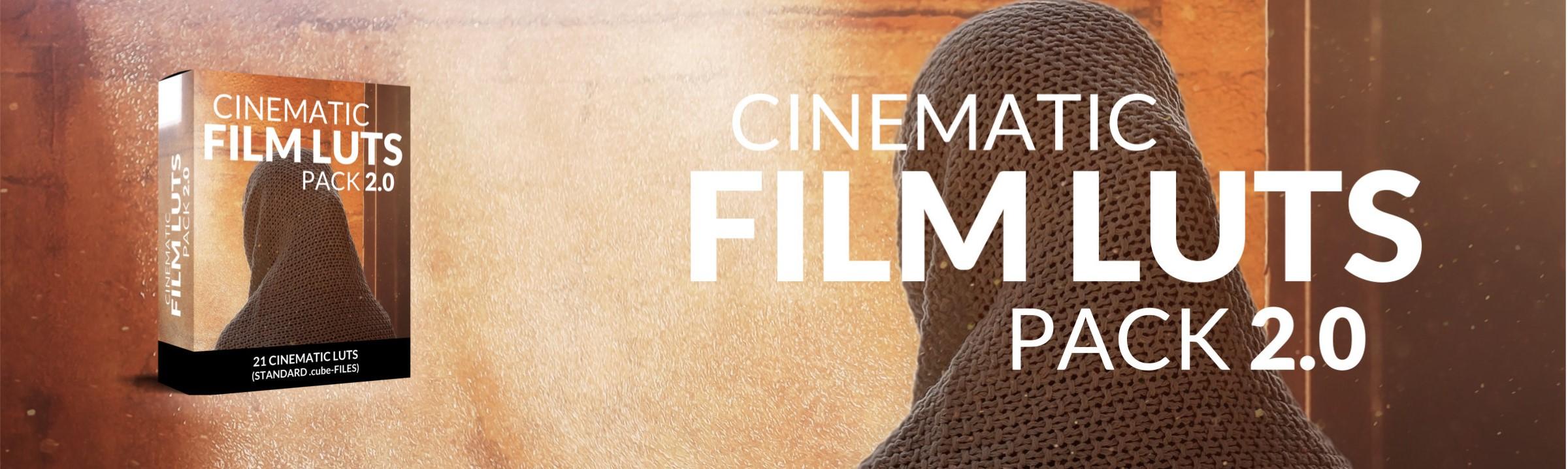 Cinematic LUTs Pack for Adobe Premiere Pro (Website Header)
