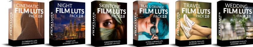 Covers Cinematic Film Lut Packs